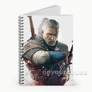 The Witcher 3 Wild Hunt With Sword Custom Personalized Spiral Notebook Cover