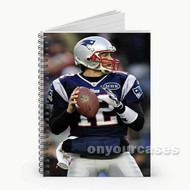 Tom Brady New England Patriots Football Custom Personalized Spiral Notebook Cover
