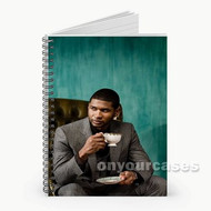 Usher With Coffee Custom Personalized Spiral Notebook Cover
