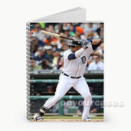 Victor Martinez Detroit Tigers Baseball Custom Personalized Spiral Notebook Cover