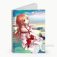 Yuuki Asuna Sword Art Online Custom Personalized Spiral Notebook Cover