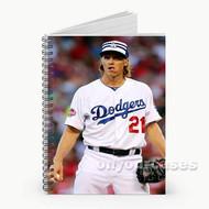 Zack Greinke LA Dodgers Baseball Players Custom Personalized Spiral Notebook Cover