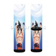 Goku Spirit Bomb Dragon Ball Custom Sublimation Printed Socks Polyester Acrylic Nylon Spandex with Small Medium Large Size