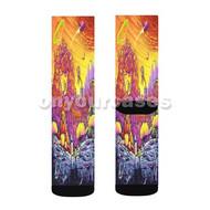 Rick and Morty 2 Custom Sublimation Printed Socks Polyester Acrylic Nylon Spandex with Small Medium Large Size