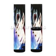 Goku Ultra Instinct Custom Sublimation Printed Socks Polyester Acrylic Nylon Spandex with Small Medium Large Size