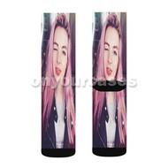 LDShadow Lady Custom Sublimation Printed Socks Polyester Acrylic Nylon Spandex with Small Medium Large Size