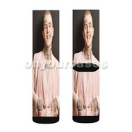 Lil Peep 2 Custom Sublimation Printed Socks Polyester Acrylic Nylon Spandex with Small Medium Large Size