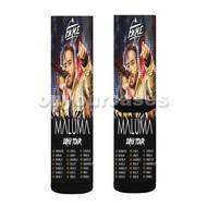 Maluma Tour Custom Sublimation Printed Socks Polyester Acrylic Nylon Spandex with Small Medium Large Size