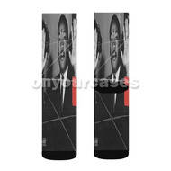 Pause 21 Savage Custom Sublimation Printed Socks Polyester Acrylic Nylon Spandex with Small Medium Large Size