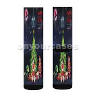Yoppa Chris Brown Feat Trippie Redd Custom Sublimation Printed Socks Polyester Acrylic Nylon Spandex with Small Medium Large Size
