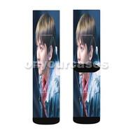 Baekhyun EXO Custom Sublimation Printed Socks Polyester Acrylic Nylon Spandex with Small Medium Large Size