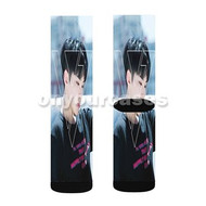 Hoshi Seventeen Custom Sublimation Printed Socks Polyester Acrylic Nylon Spandex with Small Medium Large Size
