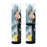 S Coups Seventeen Custom Sublimation Printed Socks Polyester Acrylic Nylon Spandex with Small Medium Large Size