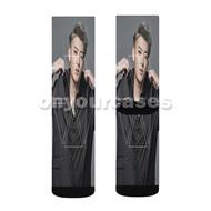 Tao EXO Custom Sublimation Printed Socks Polyester Acrylic Nylon Spandex with Small Medium Large Size