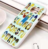 Simpsons Alphabet Samsung Galaxy S3 S4 S5 S6 S7 case / cases
