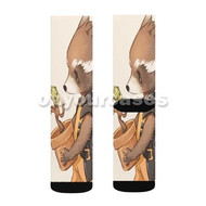 Groot and Rocket Raccoon Guardians of The Galaxy Custom Sublimation Printed Socks Polyester Acrylic with Small Medium Large Size