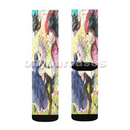 Howl s Moving Castle Halcyon Custom Sublimation Printed Socks Polyester Acrylic Nylon Spandex with Small Medium Large Size