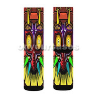 Majora s Mask The Legend of Zelda Custom Sublimation Printed Socks Polyester Acrylic Nylon Spandex with Small Medium Large Size