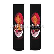 Pokemon Pokeball Charmander Custom Sublimation Printed Socks Polyester Acrylic Nylon Spandex with Small Medium Large Size