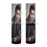 Prince Royce Custom Sublimation Printed Socks Polyester Acrylic Nylon Spandex with Small Medium Large Size