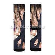 Taylor Swift and Calvin Harris Custom Sublimation Printed Socks Polyester Acrylic Nylon Spandex with Small Medium Large Size