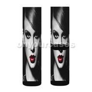 Taylor Swift Bad Blood Custom Sublimation Printed Socks Polyester Acrylic Nylon Spandex with Small Medium Large Size