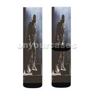Travi Scott 2 Custom Sublimation Printed Socks Polyester Acrylic Nylon Spandex with Small Medium Large Size