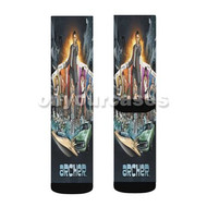 Archer With Womans Custom Sublimation Printed Socks Polyester Acrylic Nylon Spandex with Small Medium Large Size