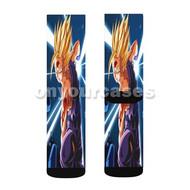 Gohan Super Saiyan 2 Dragon Ball Z Custom Sublimation Printed Socks Polyester Acrylic Nylon Spandex with Small Medium Large Size