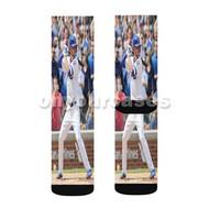 Kris Bryant MLB Custom Sublimation Printed Socks Polyester Acrylic Nylon Spandex with Small Medium Large Size