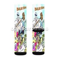 Regular Show Characters Custom Sublimation Printed Socks Polyester Acrylic Nylon Spandex with Small Medium Large Size