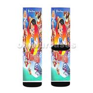 Disney Pinocchio Characters Custom Sublimation Printed Socks Polyester Acrylic Nylon Spandex with Small Medium Large Size