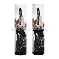 DJ Avicii Custom Sublimation Printed Socks Polyester Acrylic Nylon Spandex with Small Medium Large Size