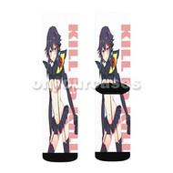 Kill La Kill Ryuko Custom Sublimation Printed Socks Polyester Acrylic Nylon Spandex with Small Medium Large Size