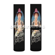 Macklemore Down Town Custom Sublimation Printed Socks Polyester Acrylic Nylon Spandex with Small Medium Large Size