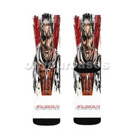 Metal Gear Solid 5 The Phantom Pain Cover Custom Sublimation Printed Socks Polyester Acrylic Nylon S with Small Medium Large Size