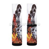 Metal Gear Solid 5 The Phantom Pain Custom Sublimation Printed Socks Polyester Acrylic Nylon Spandex with Small Medium Large Size