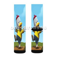 Noksu Cartoons Happy Custom Sublimation Printed Socks Polyester Acrylic Nylon Spandex with Small Medium Large Size