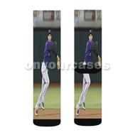 Nolan Arenado Colorado Rockies Baseball Custom Sublimation Printed Socks Polyester Acrylic Nylon Spa with Small Medium Large Size