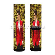 Panic at the Disco Brendon Urie Custom Sublimation Printed Socks Polyester Acrylic Nylon Spandex with Small Medium Large Size