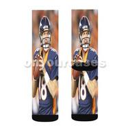 Peyton Manning Denver Broncos Baseball Custom Sublimation Printed Socks Polyester Acrylic Nylon Span with Small Medium Large Size
