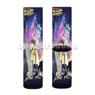 Rick and Morty Back To The Future Parody Custom Sublimation Printed Socks Polyester Acrylic Nylon Sp with Small Medium Large Size