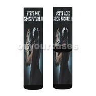 Steve Aoki Neon Future II Custom Sublimation Printed Socks Polyester Acrylic Nylon Spandex with Small Medium Large Size