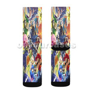 Super Smash Bros Caharacters Collage Custom Sublimation Printed Socks Polyester Acrylic Nylon Spande with Small Medium Large Size