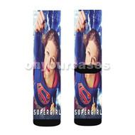 Supergirl Melissa Benoist Custom Sublimation Printed Socks Polyester Acrylic Nylon Spandex with Small Medium Large Size