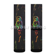 The Weeknd Madness Custom Sublimation Printed Socks Polyester Acrylic Nylon Spandex with Small Medium Large Size