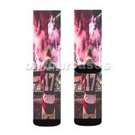 Tiesto DJ Concert Custom Sublimation Printed Socks Polyester Acrylic Nylon Spandex with Small Medium Large Size