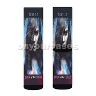 Tove Lo Queen of The Clouds Custom Sublimation Printed Socks Polyester Acrylic Nylon Spandex with Small Medium Large Size
