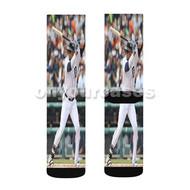 Victor Martinez Detroit Tigers Baseball Custom Sublimation Printed Socks Polyester Acrylic Nylon Spa with Small Medium Large Size