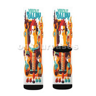 Wreck It Ralph All Chaaracters Custom Sublimation Printed Socks Polyester Acrylic Nylon Spandex with Small Medium Large Size